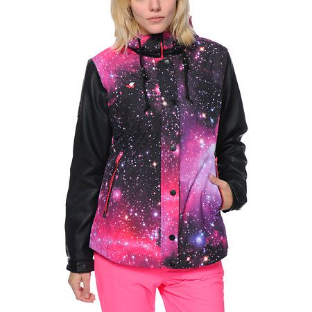 Glamour Kills Freshies Pink Galaxy 10K Snowboard Jacket | Coats