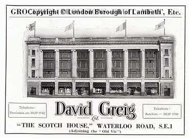 David Greig, Waterloo Road, Waterloo: Advertisement 1936