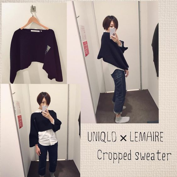 UNIQLO and LEMAIRE, cropped knit was a pattern that is quite offensive.  Stomach cold likely, no, hmm ... I wonder if there if poncho Toka scroll manner use.  It may be fun could go even layering of the non-shirts, turtle Toka.  #UNIQLO #uniqloandlemaire # Yunijo # fashionable era of patience is only # I'll began to worry about the cold of stomach # Arasa's the thing # safety first health first