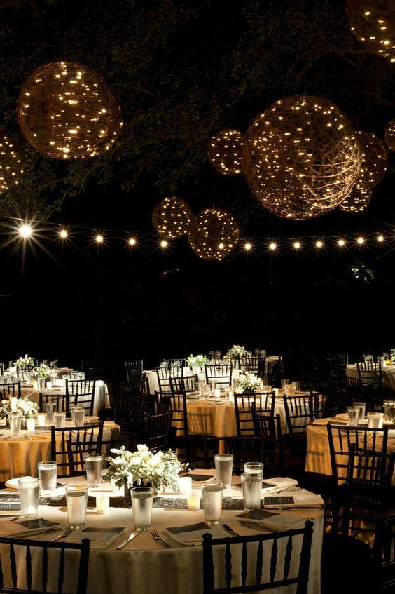 twine lanterns + lights inside..love this look #wedding