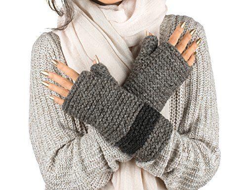 100 Wool Fingerless Gloves Arm Warmer Winter Warm Fleece Lining Gloves Hand Knit Crochet Woman Cable Thumb Hole Grey In 2020 Wool Fingerless Gloves Arm Warmers Fingerless Gloves Knitted