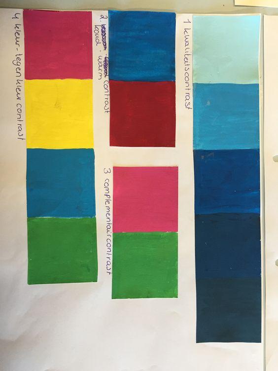 Kwaliteitscontrast koud warm contrast complementair contrast en kleur tegenkleur contrast - Kleur warm en koud ...
