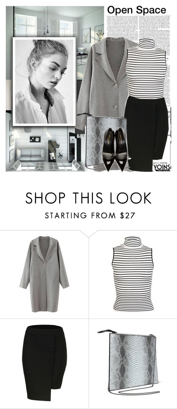 """Yoins 8"" by mycherryblossom ❤ liked on Polyvore featuring Miss Selfridge and Yves Saint Laurent"
