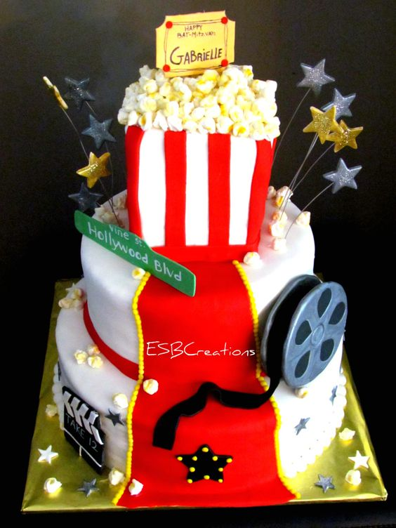 Hollywood Themed Cake  on Cake Central