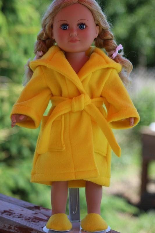 Yellow Bath Robe for 18 Dolls