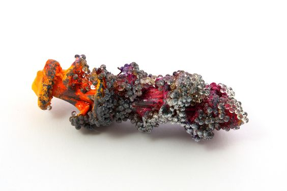 Viktoria Münzker Ferus  Ring: Violet, 2015  Wood, silver, granules: