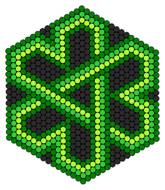 celtic knot shamrock perler bead pattern if you