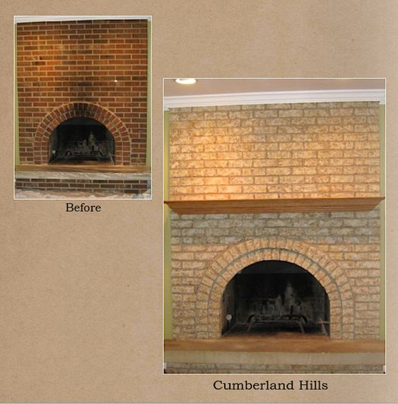 how to stain brick fireplace home stains
