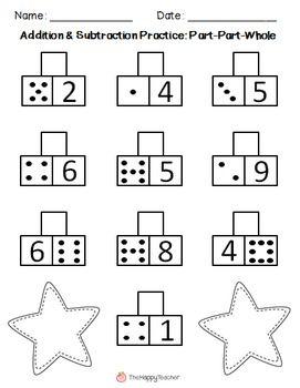 Addition & Subtraction Printables {Part-Part-Whole Worksheets ...