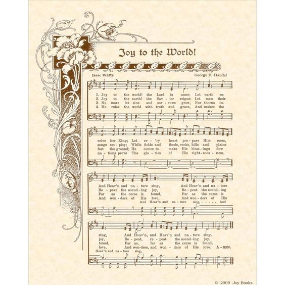 Sheet Music And Lyrics To Joy To The World: Pinterest • The World's Catalog Of Ideas