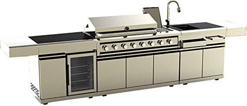 Island Bbq Grill Outdoor Kitchen W Wine Cooler Sink 3 Piece 304 Stainless Steel Combo Outdoor Bbq Kitchen Bbq Grill Island Outdoor Kitchen Design