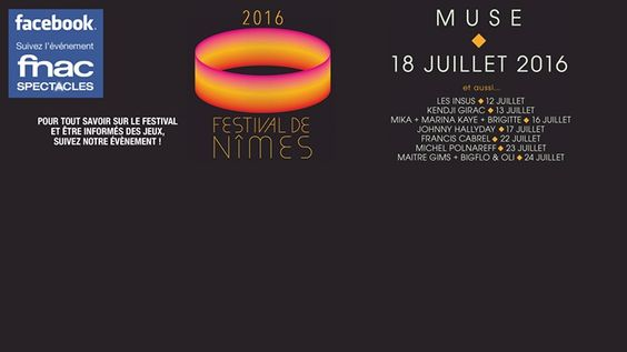 MUSE en concert au Festival de Nîmes, 18/07 - http://www.unidivers.fr/rennes/muse-en-concert-au-festival-de-nimes-1807/ -  -