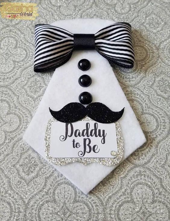 12 Little Man Baby Shower Corsage  Little Man Baby Shower   Modern Baby Shower  Mustache Baby Shower  Corsage