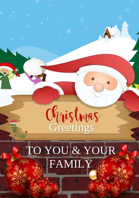 Christmas Greetings Video Template Christmas Greetings Christmas Cards Christmas Greeting Card Template