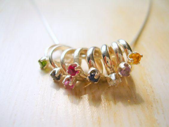 Custom Mothers Grandmothers Birthstone Baby Ring Charm
