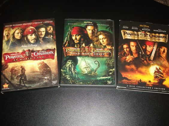 Pirates Of The Caribbean Trilogy 4 Disc DVD Movie Collection. Johnny Depp