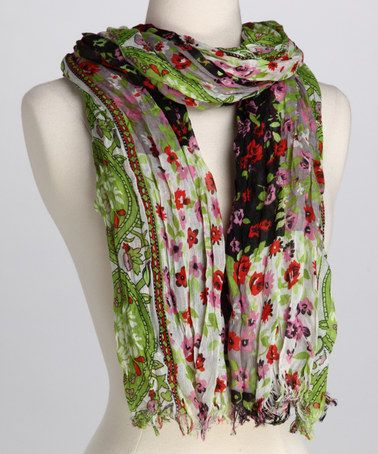 Take a look at this Lime Floral Scarf by Bruges on #zulily today!: Lime Floral, Bruges Lime, Floral Scarf, Limes, Floral Bruges