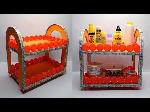 Ide Kreatif Tutup Botol Bekas Jadi Rak Yang Sangat Cantik Youtube Tutup Botol Kerajinan Tutup Botol Kreatif