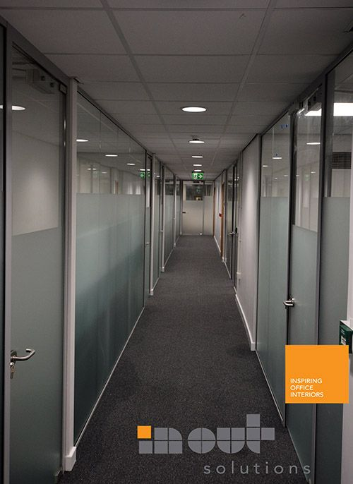 12mm Toughened Glass Partitioning With Framed Glass Doors Glass Office Partitions Office Partition Glass Office