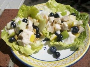 Blueberry Chicken Salad Tacos » US Highbush Blueberry Council #littlechanges