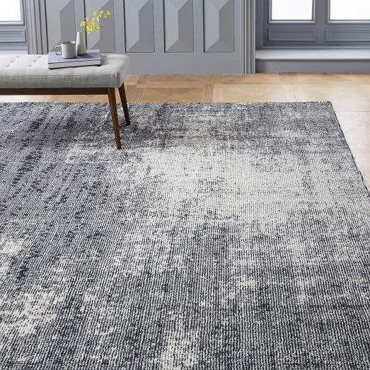 West Elm Distressed Foliage Rug Pewter Buying Carpet Distressed Rugs Home Decor