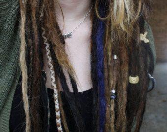 Crystal Clip-in Human Hair Dread Extension