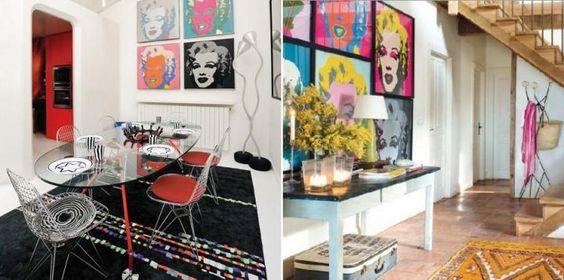 Imagens de interiores Pop Art
