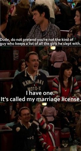 I have one. It's called my marriage license. #HIMYM.  I adore the fact that they high five over it at the end. :)