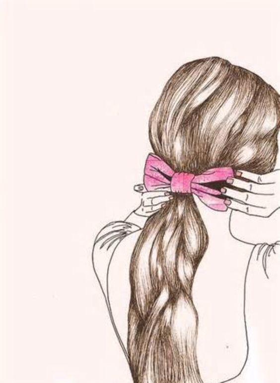 Hair drawing so pretty