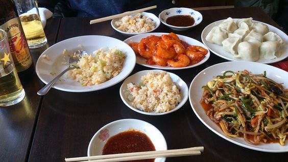 Yokohama Chinatown 山東→水餃子、海老チリ、蟹チャーハン、季節の野菜炒め♪