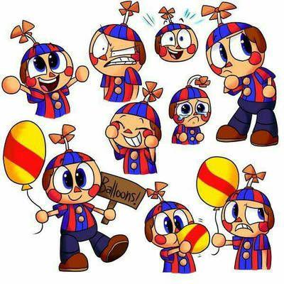 Fnaf Balloon Boy Expressions By Bippercraycray Fnaf Drawings Fnaf Coloring Pages Fnaf Art