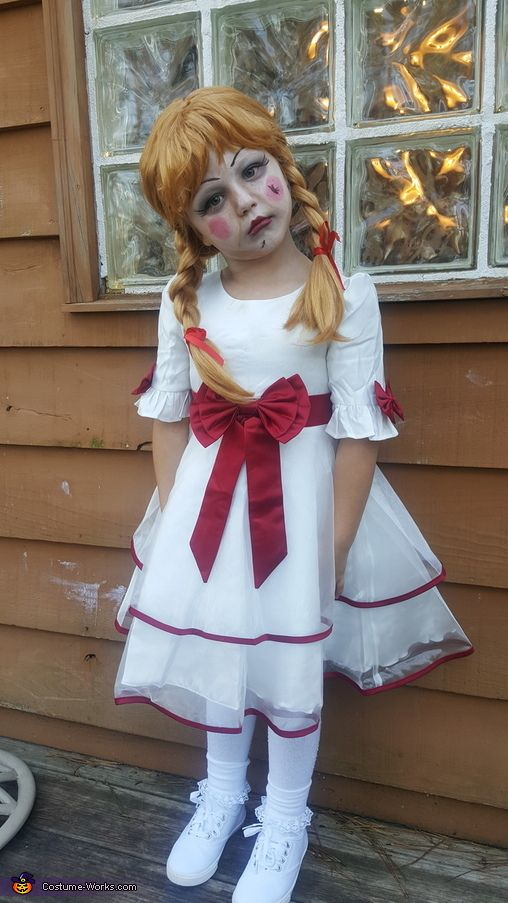 HALLOWEEN-HORROR-SCARY-EVIL LADIES ANNABELLE DOLL COSTUME All Sizes Plus Sizes