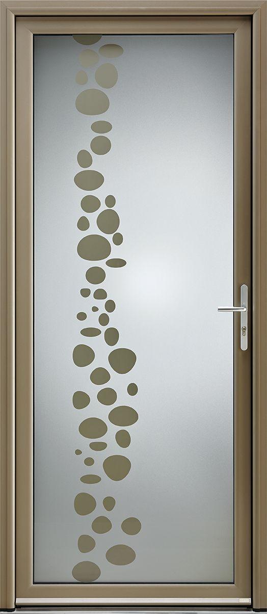 Porte D Entree Aluminium Contemporaine Grand Vitrage Etincelle