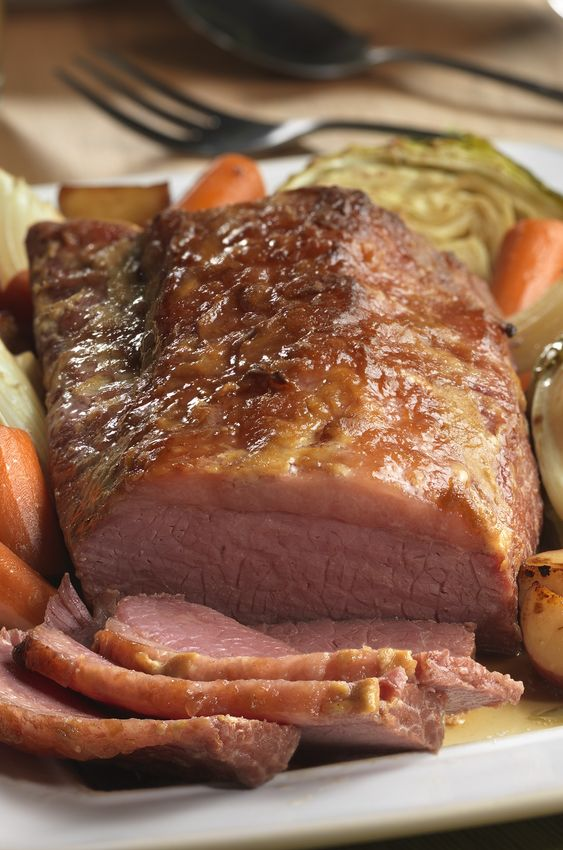 -Braised Corned Beef & Cabbage dish slowly simmers in a savory beef ...