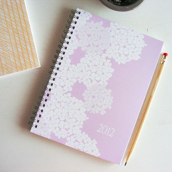 2012 weekly planner - hydrangea cover, $28.75