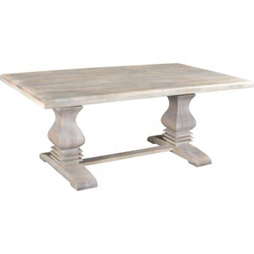 Rockwell Pedestal Dining Table 76 Antique White Pedestal