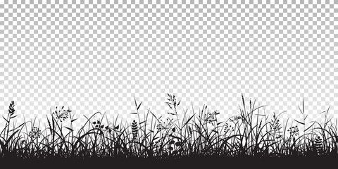 Black Silhouettes Of Grass Grass Silhouette Black Silhouette Silhouette Vector
