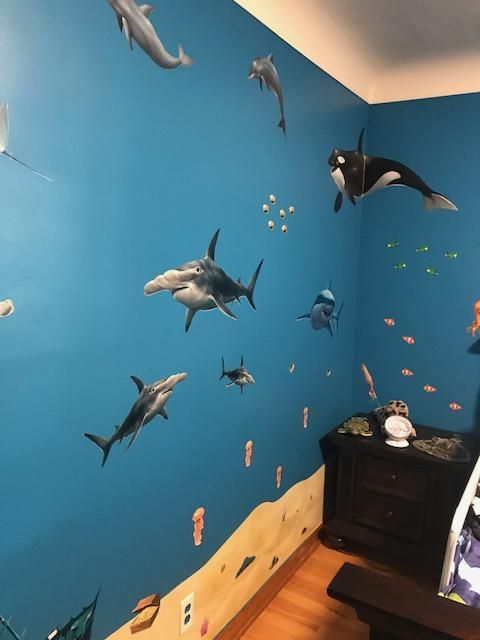 Ocean Mural Kids Peel And Stick Undersea Wall Mural Ocean Mural Ocean Kids Room Kids Wall Murals