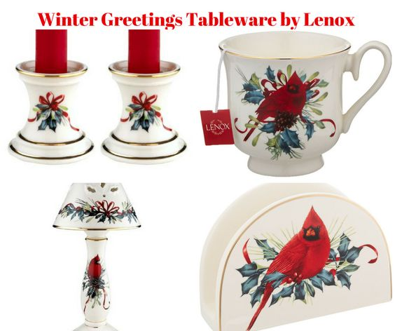 Winter Greetings Table Linens by Lenox