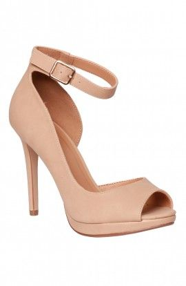 Tan heels, Peep-toe and Heels on Pinterest