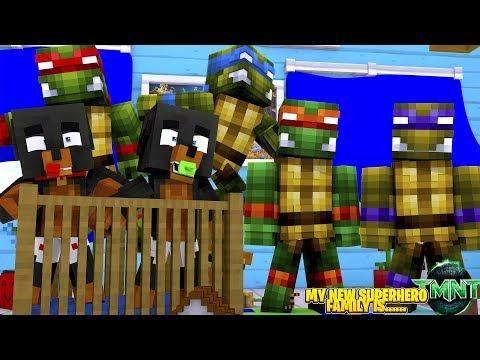 Minecraft My New Superhero Family Isthe Teenage Mutant Ninja
