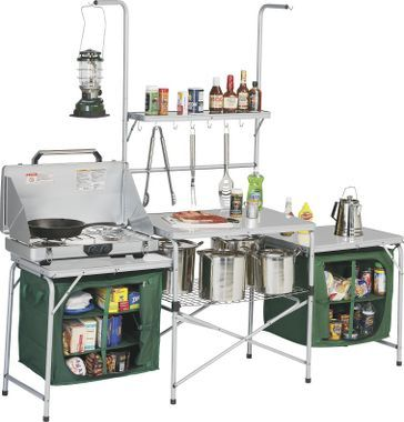 camping kitchen from cabela's - the Mecca of all campsite kitchen set-ups!