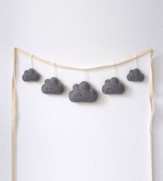 Needle & I   Rainy Day Clouds Garland Grey