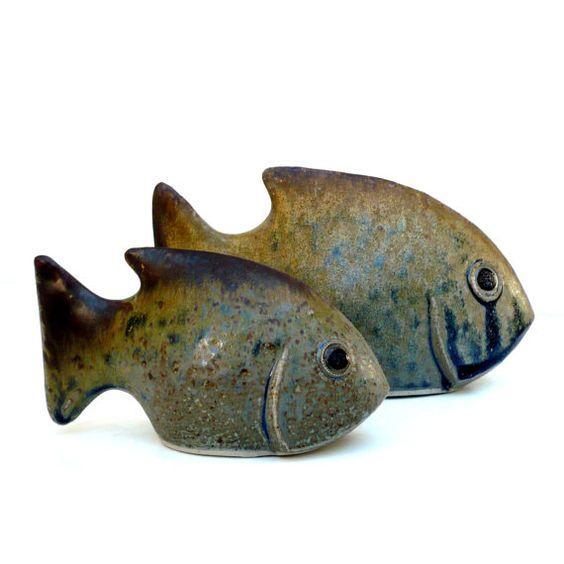 Fish ceramics and fish ornaments on pinterest for Ceramic fish sculpture