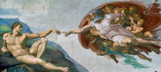 Michel-Ange - Renaissance - Painting - La création d'Adam