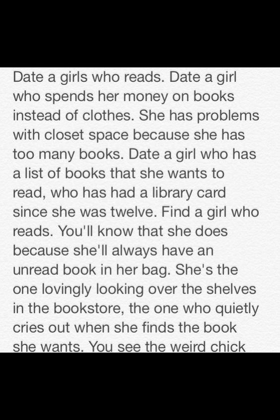 Date a Girl Who Reads Part 1/6