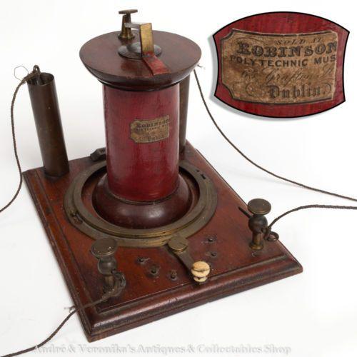 Antique Science Instruments : Th c electric shock quack medical device antique