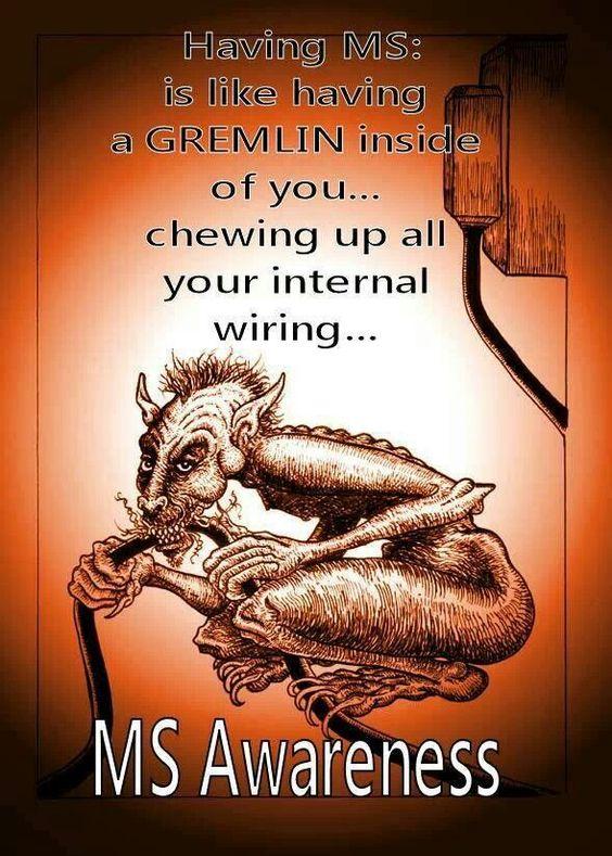 MS Multiple Sclerosis Gremlins http://media-cache-ec0.pinimg.com/originals/13/f3/cc/13f3cc2bb726f7404c5483ec5a8ccccd.jpg
