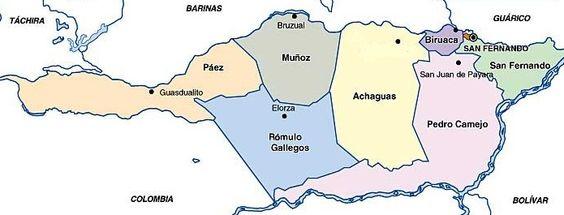 Mapa estado apure