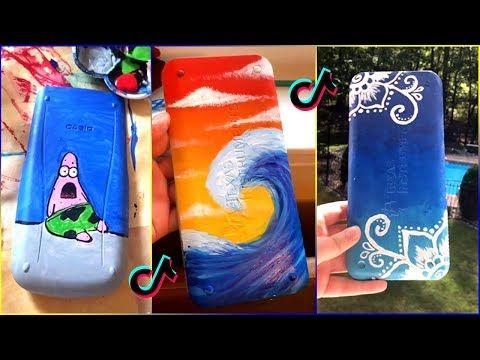 Repeat Tik Tok Painting On Calculators Compilation Part 3 By Mini Canvas Art Paint Calculator Painting